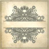 цветочный дизайн рамы на гранж-фон — Cтоковый вектор