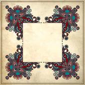 Decoratieve bloemmotief met plaats voor uw tekst, in grunge ba — Stockvector