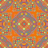 Original retro paisley seamless pattern — Stock Vector