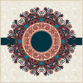Ornate floral carpet background with template for your text — Stock Vector