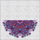 Ornamental circle template with floral background — Vecteur