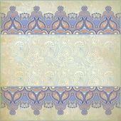 Ornate floral background with ornament stripe — Photo