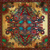 Traditional ornamental floral paisley bandanna — Stock Photo