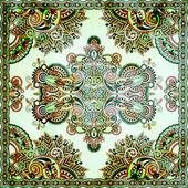 Grunge traditional ornamental floral paisley bandanna — Stock Photo