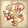Hand lettering inscription - happy valentines day, on grungy pa — Stock Vector