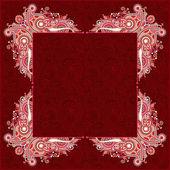 Floral vintage frame — ストックベクタ