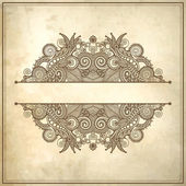 Flower design on grunge background — Stock Vector