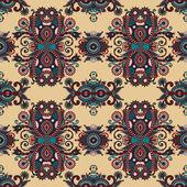 Vintage motif sans couture paisley floral — Vecteur
