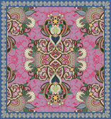 Ukrainian Oriental Floral Ornamental Carpet Design — Stock Vector