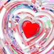 abstract digital painting background whis a heart — Stock Photo
