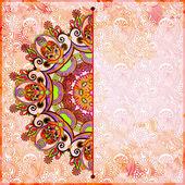 декоративный шаблон круга с цветочным фоном — Стоковое фото