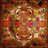 Traditional ornamental floral paisley bandanna — Stock Photo