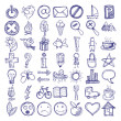 Stock Vector: Set of 49 hand draw web icon design elements