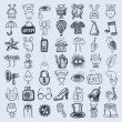 49 hand drawing icon set — Stock Vector