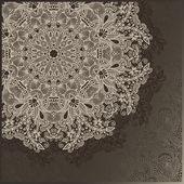 Decoratieve cirkel sjabloon met florale achtergrond — Stockvector