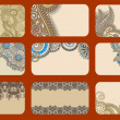 Royalty-Free Stock Vektorfiler: Ornamental business card