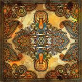 Tradicional ornamental floral paisley bandana — Foto Stock