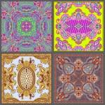 Traditional ornamental floral paisley bandanna collection — Stock Vector #21085521