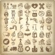Royalty-Free Stock Vector Image: 49 hand drawing doodle icon set