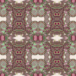 Geometry vintage floral seamless pattern - Stock vektor