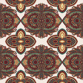 Vintage floral paisley seamless pattern — Stock Vector