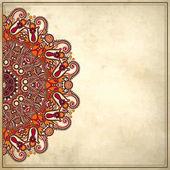 цветочный дизайн круг на гранж-фон с кружева украшение — Cтоковый вектор