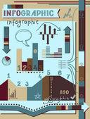 Retro infographics elements set — Stock Vector