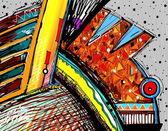 Illustration originale de l'art abstrait peinture numérique — Photo
