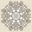 Circle lace ornament, round ornamental geometric doily patter — ベクター素材ストック