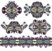 декоративные цветочные украшения — Cтоковый вектор