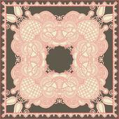 Geleneksel süs çiçek desenli bandana — Stok Vektör