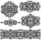 Dekorativní květinovou ozdobou — Stock vektor