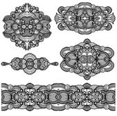 Ornement floral ornemental — Vecteur