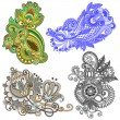 Royalty-Free Stock Vector Image: Original hand draw line art ornate flower design. Ukrainian trad