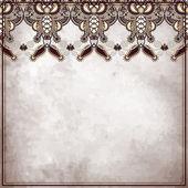 Ornamental floral pattern, on grunge paper background — Stock Vector