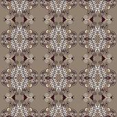 Vintage motif floral de sans couture — Vecteur
