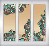 Collection of modern ornamental banners template — 图库矢量图片
