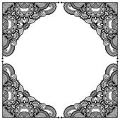 Black and white floral pattern — Stock Vector