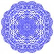 Royalty-Free Stock Vector Image: Circle lace ornament, round ornamental geometric doily pattern