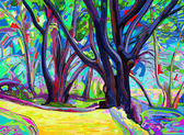 Digital painting of spring landscape — Stock Photo