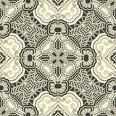 Cirkel kant sieraad, ronde sier geometrische kleedje patroon — Stockvector