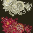 Traditional ornamental floral paisley bandanna. — Stockvectorbeeld