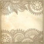 Flower design on grunge background — Stock Vector #26927315