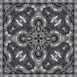 Grey ornamental floral paisley bandanna. You can use this pattern in the design of carpet, shawl, pillow, cushion, black and white collection — Stock Vector #26927619