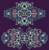 Ornamental floral adornment — Stock Vector