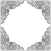 Black and white vintage ornamental template — Stock Vector