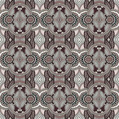 Geometry vintage floral seamless pattern — Vecteur