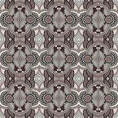 Patrón sin costuras floral vintage de geometría — Vector de stock