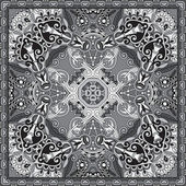Traditional ornamental floral paisley bandanna. You can use this pattern in the design of carpet, shawl, pillow, cushion — Stock Vector