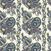 Vintage blommig sömlös paisley mönster — Stockvektor